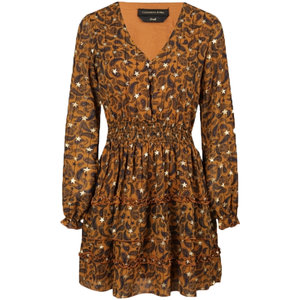 Colourful Rebel PRESLEY PAISLEY DRESS - BROWN