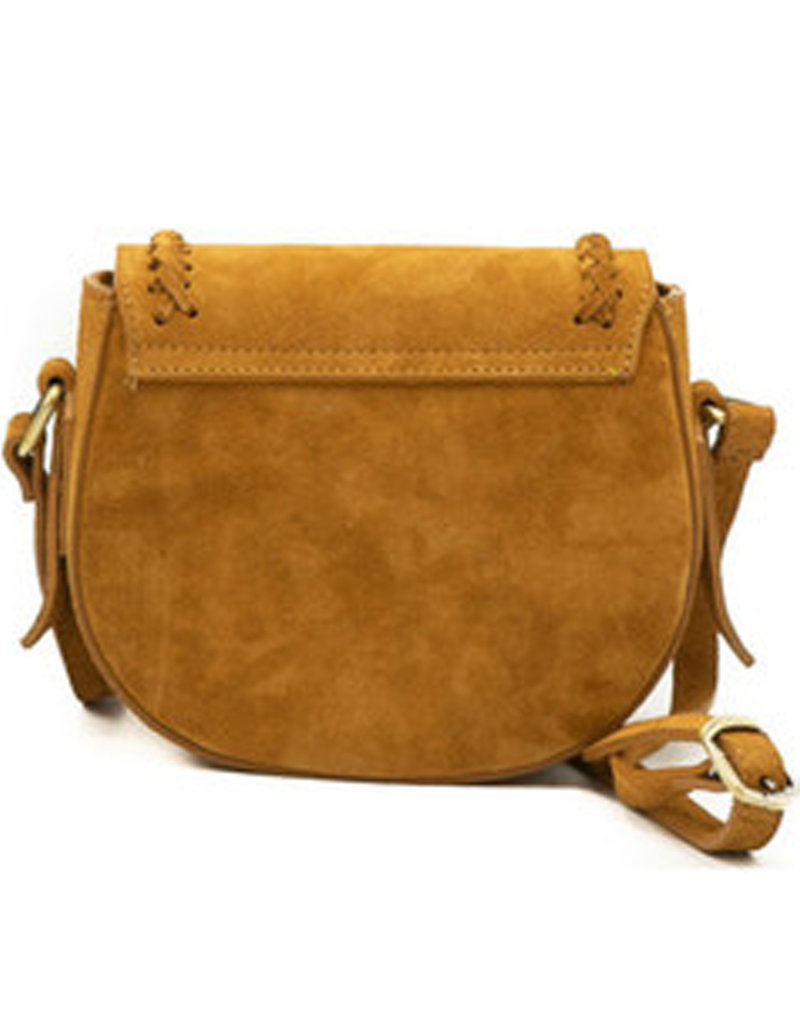 CHELSEA SUEDE BAG - BROWN