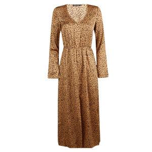 Rut & Circle ELLE PANTER DRESS - BROWN/BLACK