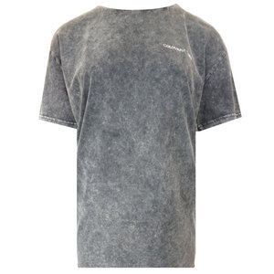 Colourful Rebel COSMIC LOVE ACID WASH TEE - GREY
