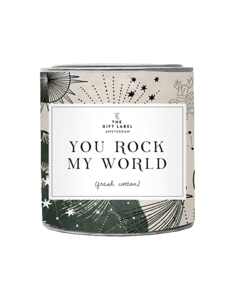 The Gift Label YOU ROCK MY WORLD - BIG SCENTED CANDLE