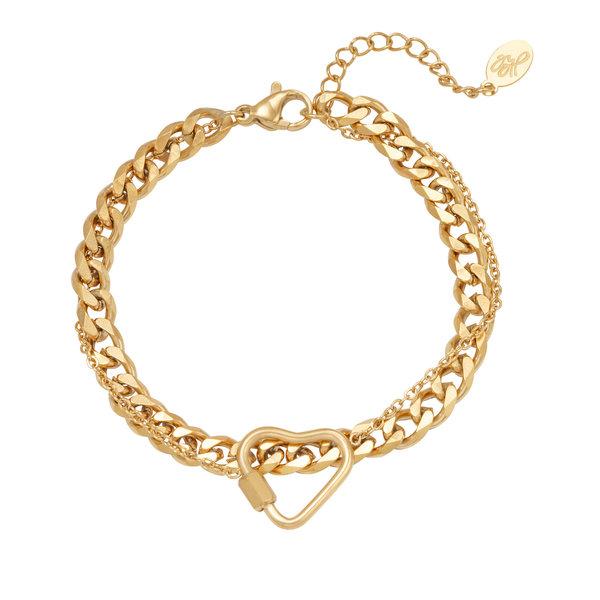 Lotz & Lot BRACELET CHAINED HEART - GOLD