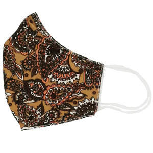MOUTH MASK FLOWER - BROWN