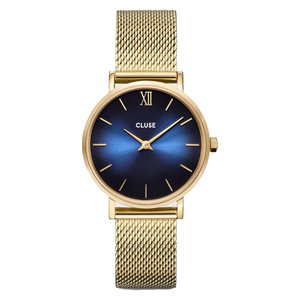 Cluse CLUSE MINUIT WATCH - GOLD/DARK BLUE