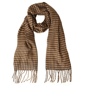 Lotz & Lot SCARF GINGHAM  - BEIGE
