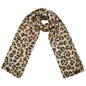 Lotz & Lot SCARF SOFT PANTER - BEIGE