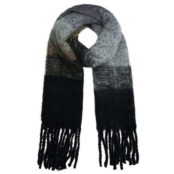 Lotz & Lot SCARF KEEP ME WARM - BLACK/WHITE