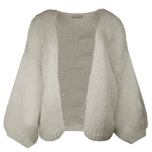 Lotz & Lot FLEUR CARDIGAN MOHAIR - TAUPE ONE SIZE