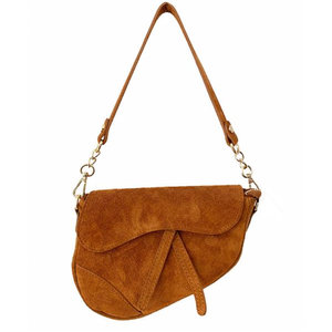 Lotz & Lot GIGI SADDLE BAG  SUEDE - BROWN