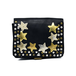 Studs & Stones LOT SQUARE BAG S - BLACK