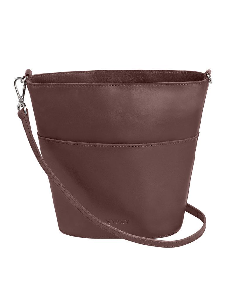 Myomy MY BUCKET BAG MINI - AUBERGINE