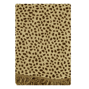 Lotz & Lot CHEETAH SCARF - BROWN