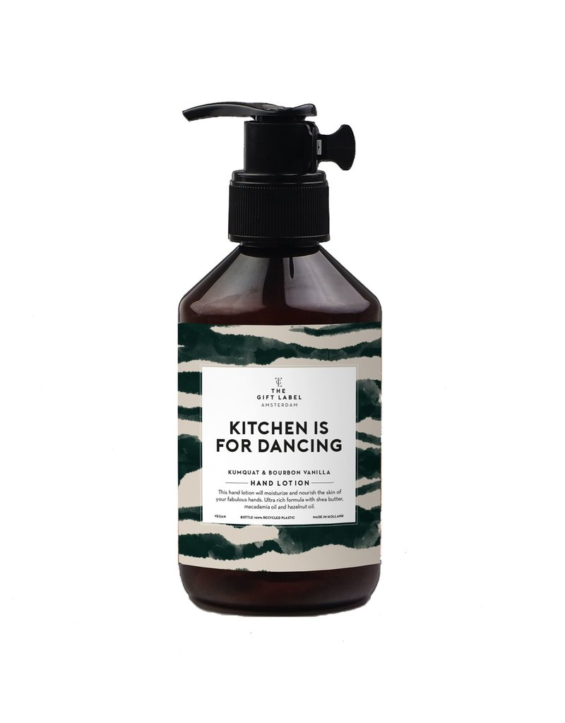 The Gift Label KITCHEN IS FOR DANCING - HAND LOTION
