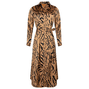 Ydence PHILIPPA TIGER DRESS - CAMEL