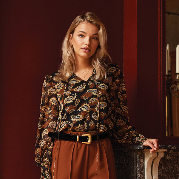 Ydence LIZET PUFF BLOUSE - PAISLEY