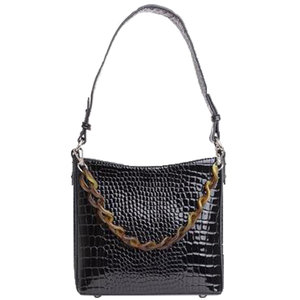 Hvisk AMBLE CROCO SMALL - BLACK