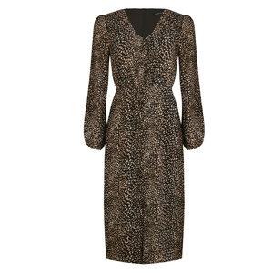 Ydence LISSA PRINT DRESS - BLACK