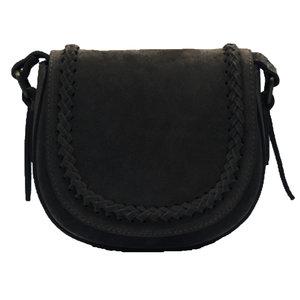 CHELSEA SUEDE BAG - BLACK
