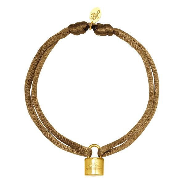 Lotz & Lot LOCK BRACELET - BEIGE/GOLD