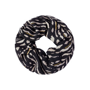 SCRUNCHIE - ZEBRA/GOLD