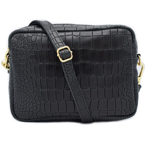 Number Five LOT CROCO BAG - BLACK/GOLD