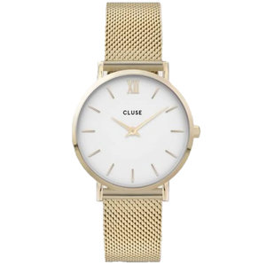 Cluse CLUSE MINUIT MESH WHITE - GOLD