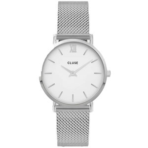Cluse CLUSE MINUIT MESH WHITE - SILVER