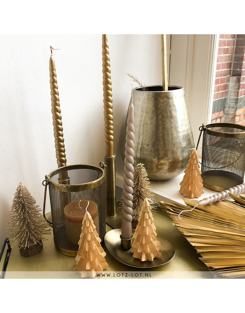 Lotz & Lot SWIRL CANDLES - TAUPE