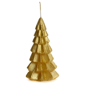 Lotz & Lot CANDLE CHRISTMAS TREE S - GOLD