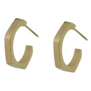 Go Dutch HEXAGON EARRING - GOLD