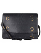 Cowboysbag BAG ONYX - CROCO BLACK/GOLD