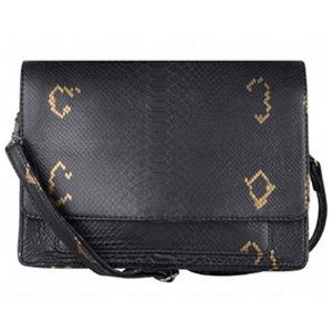 Cowboysbag BAG ONYX - CROCO BLACK/GOLD