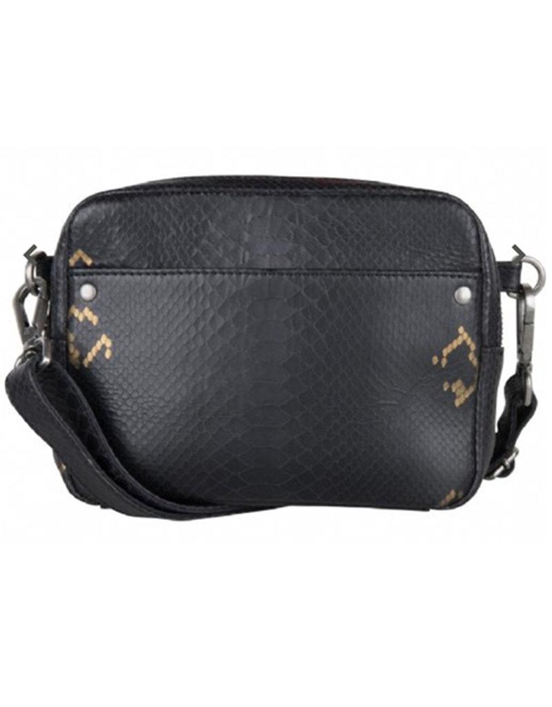 Cowboysbag BAG BOBBIE - CROCO BLACK/GOLD