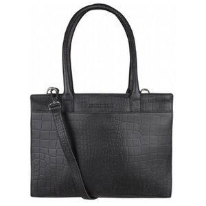 Cowboysbag LAPTOP BAG JADE  - CROCO BLACK