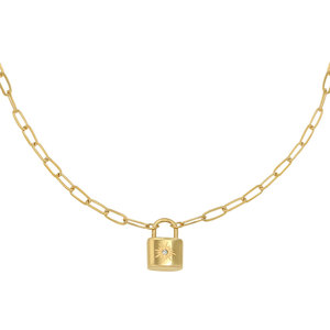 Lotz & Lot LITTLE LOCK NECKLACE - GOLD