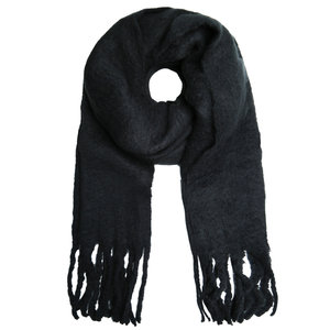 Lotz & Lot SCARF SOLID COLORS - BLACK