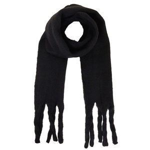 Lotz & Lot SCARF IN BETWEEN - ZWART