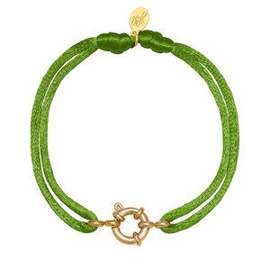 Lotz & Lot BRACELET SATIN WHEEL - GREEN/GOLD