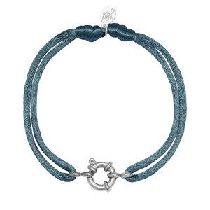 Lotz & Lot BRACELET SATIN WHEEL - BLUE/SILVER