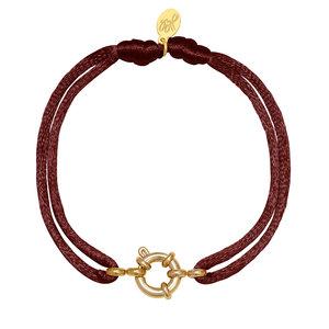 Lotz & Lot BRACELET SATIN WHEEL - RED /GOLD