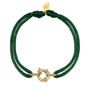 Lotz & Lot BRACELET SATIN WHEEL - DARK GREEN/ GOLD