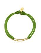 Lotz & Lot BRACELET SATIN CHAINS - GREEN/GOLD