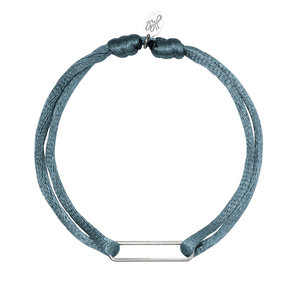Lotz & Lot BRACELET SATIN CLIP -  BLUE/SILVER
