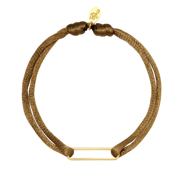Lotz & Lot BRACELET SATIN CLIP -  BEIGE/GOLD