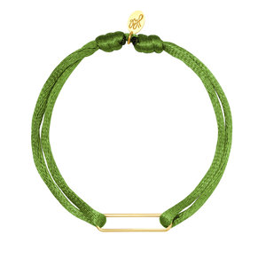Lotz & Lot BRACELET SATIN CLIP -  GREEN/GOLD