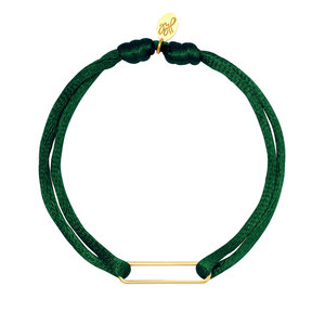 Lotz & Lot BRACELET SATIN CLIP - DARK GREEN/GOLD