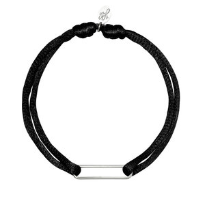 Lotz & Lot BRACELET SATIN CLIP -  BLACK/SILVER