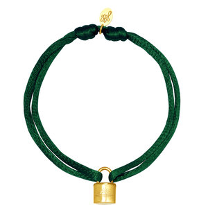 Lotz & Lot LOCK BRACELET - DARK GREEN / GOLD