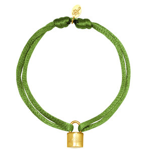 Lotz & Lot LOCK BRACELET - GREEN/GOLD