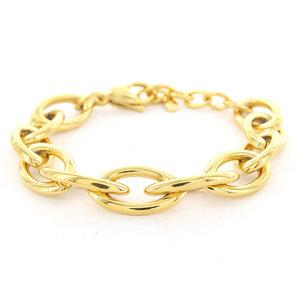 Kalli Kalli SASHA OVAL CHAINS BRACELET - GOLD